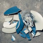 broken plate and broken glass
